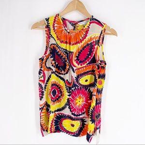 Trina Turk Multicolored Silk Top Size Medium